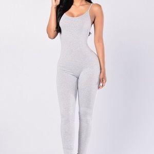 Fashion Nova Gray jumpsuit one piece
